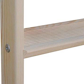 Echelle en bois pour mezzanine Longueur 1.41m pour atteindre 1.28m.