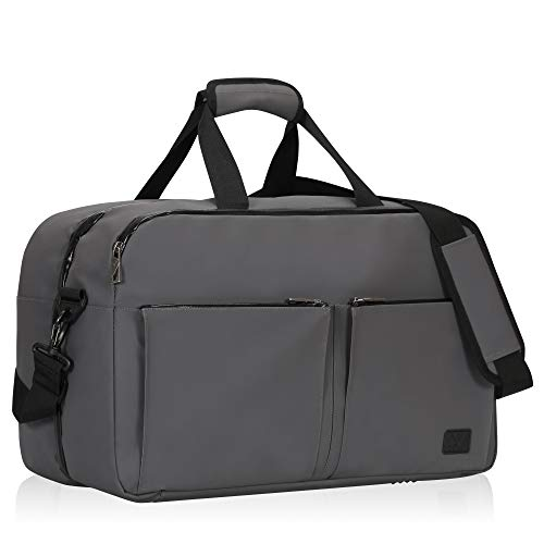 Hynes Eagle Travel Bag Weekender Bag Overnight Bag for Women Men 36L, Grey