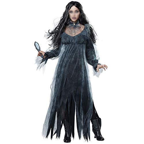 Scary Tales Halloween Day Of The Dead (Party Costumes Ladies Halloween Costumes Fairy Tales Witches Uniforms Day of The Dead Vampire Queen Ghosts Bridal Costumes Party Dress (Color : A, Size :)