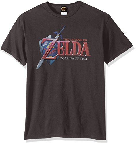 FIFTH SUN Nintendo Men's Hey Ocarina T-Shirt, Charcoal, L...