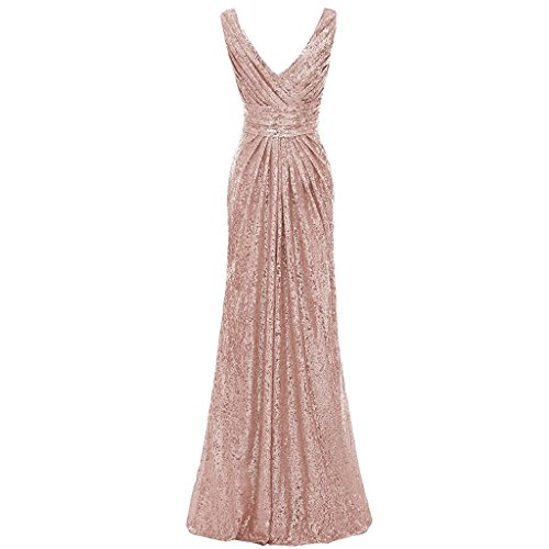 Brautjungfer V Ausschnitt Pailletten Backless Lange Silber Cocktailkleider Lila Kleid Aiyana ärmellos Abendkleid twn4648q