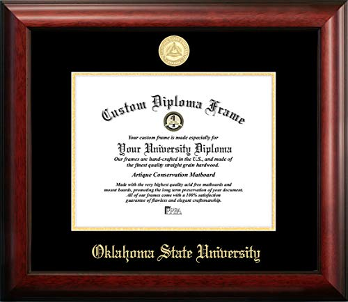 Campus Images OK999GED Oklahoma State University Embossed Diploma Frame, 8.5