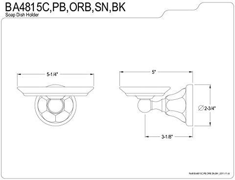 Kingston Brass BA4815SN Metropolitan Soap Dish Brushed Nickel