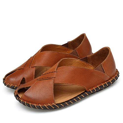 CM 5 Anti Sandali Da 5 Da Traspirante Pelle da Da Lavoro 27 pantofole scivolo E Scarpe Casual Marrone Uomo In spiaggia 23 Wagsiyi Uomo Aaq5xPEHwq