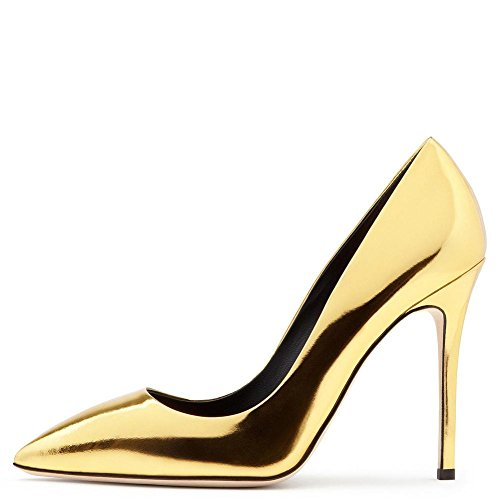 eur38uk55 Argento Dimensione 4 Inteligente Gold Festa Oro Sexy Tacco 5 Nvxie 35 37 Le Vestito Donna Lavoro Stiletto 44 5 uk Pompe Alto Signore Tribunale Discoteca Eur Scarpe Appuntito x6Uqfp8wnq