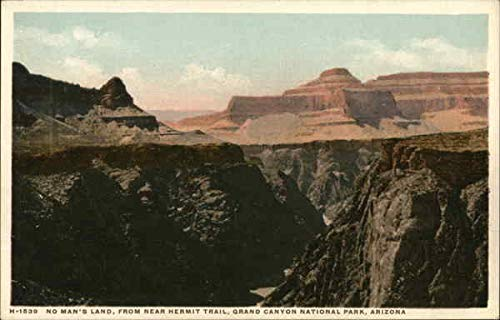 No Man's Land, From Near Hermit Trail Grand Canyon National Park Arizona Original Vintage Postcard from CardCow Vintage Postcards