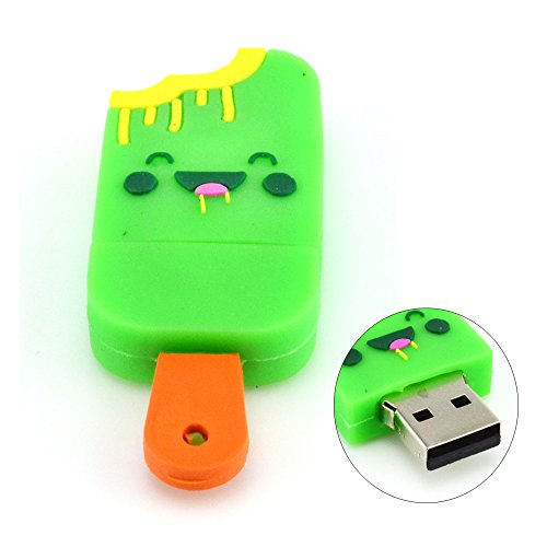 8GB Greedy Smile Popsicle USB Flash Drive (Yellow)