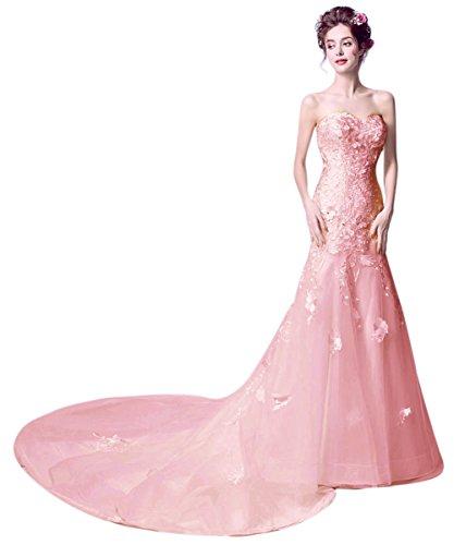 Mujer Pink1 Vimans Para 46 Vestido Trapecio FxO087