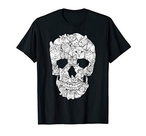 Kitty Cat Halloween Ideas (Cat Skull T-Shirt - Kitty Skeleton Halloween Costume)