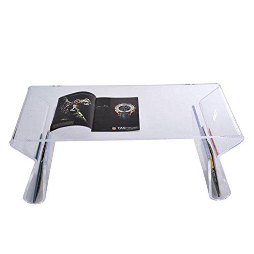 HOMCOM 38 In. Modern Acrylic Coffee Table