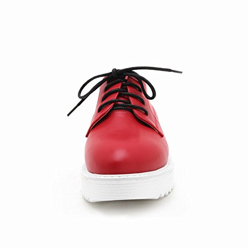 Latasa Dames Lace-up Wedges Oxford Schoenen Rood