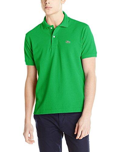 Lacoste Men's Short Sleeve Pique L.12.12 Original Fit Polo Shirt, Chlorophyll Green, (Lacoste Tennis Dresses)