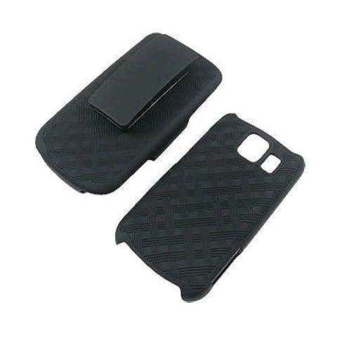 Superior Rubberized Hard Shell Case w/ Holster for LG Vortex VS660 (Verizon Vortex Phone Case)