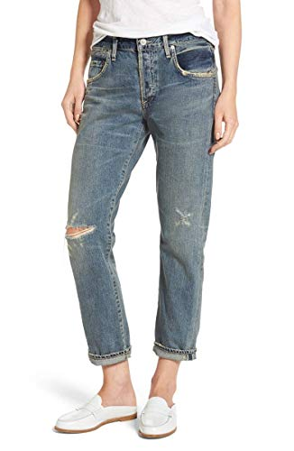 Citizens of Humanity Emerson Ripped Slim Boyfriend Crop Jeans – Norlander – 25 from Citizens of Humanity