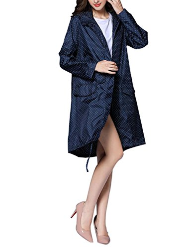 Pluie ExtRieure Pliable Femmes Bleu Grandes Poncho Manteau LGer Filles Vent Capuche Marine Zipper Veste Impermable Coupe De Points rFx0wq7Fn