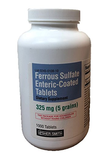 Upsher-Smith Ferrous Sulfate Enteric-Coated 325 mg 1000 Tablets by Upsher-Smith