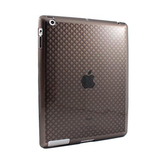 Sanoxy Protective Diamond Pattern TPU Back Cover for iPad 2/ iPad 3/ iPad 4th gen - Transparent, Gray Crystal - Crystal Gry