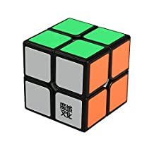 Eco-friendly Plastics MOYU 2x2x2 Speed Rubik's Cube Sticker Speed Magic Cube (Black)