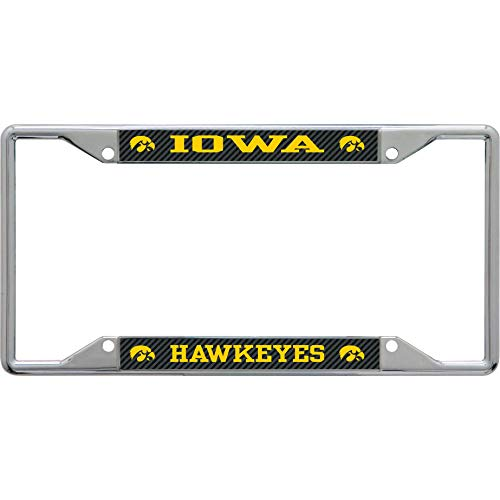 Stockdale Technologies Iowa Hawkeyes Metal License Plate Frame - Carbon Fiber