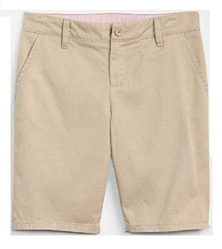 GAP Kids Girls Twill Bermuda School Uniform Shorts, Khaki, Size (Gap Girls Shorts)