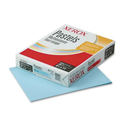 Xerox Multipurpose Colored Paper, 8 1/2'' x 11'', 20 Lb., Blue, Ream Of 500 Sheets