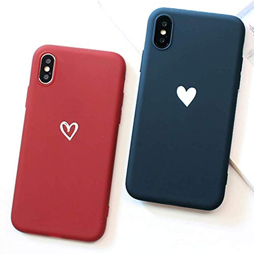 - 2 Pack for iPhone 5 5S SE Case LAPOPNUT [Love Series] Premium Silicone Case Soft Gel Rubber with Cute Heart Design Back Cover Matte Case for iPhone 5 5S SE