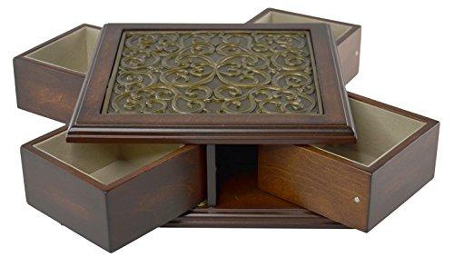 Handmade Wood Swirl Jewellery Box Storage Container Brand Bombay Dimension 3