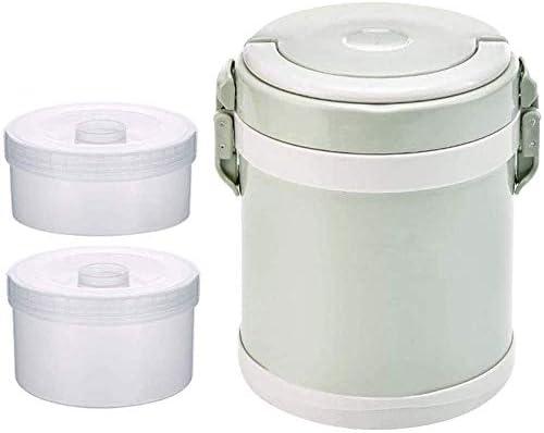 CZHONXIN-BDANGHE べんとう箱, 絶縁熱食品容器フラスコ0.8L / 2.0L、漏れ防止のランチボックスステンレス鋼のスープ魔法瓶は、ランチジャー用のホットフードランチボックス絶縁は、外出先でホットランチを楽しみます。 (Color : Green, Size : 2.0L)