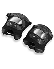 Safety Kneepads Stainless Steel Motorcycle 2 Pcs Adults Knee Pads Shin Protective Armor Set