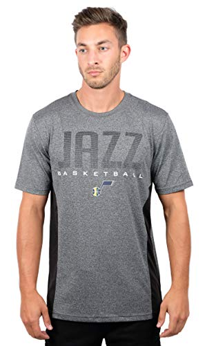 Ultra Game Adult Men T Athletic Quick Dry Active Tee Shirt, Heather Charcoal 18, XX-Large