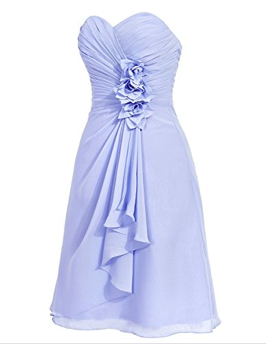 Anlin Ruched Gown Flowers Light Dress Chiffon Prom Bridesmaid Royal with Short Women's 6r5pq6