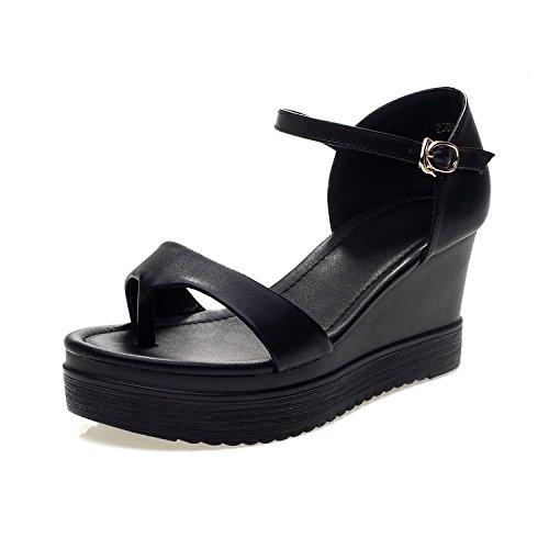 ZPPZZP La sig.ra sandali con fondo piatto 34 nero stile Coreano