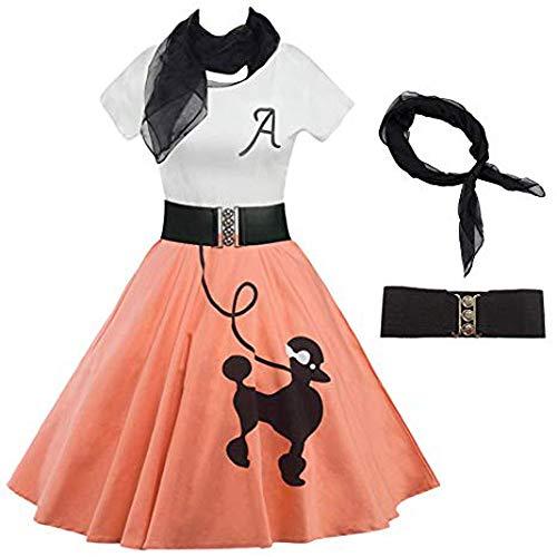 (Women's Evening Party Dress,NEWONESUN Ladies Poodle Print Skater Vintage Rockabilly Tee Cocktail Swing Mini Dresses )