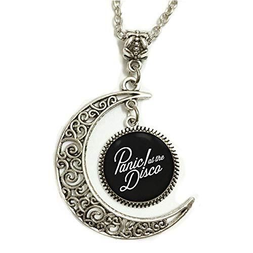 splendid merchandise Charm Crescent Moon Panic! at The Disco Band Logo Pendant Necklace