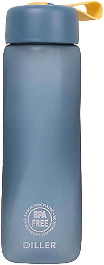 TriLance Bouteille deau 700ml Reutilisable sans BPA Coupe Carr/ée lEcole Texture Mate en Plein Air la Randonn/ée Le Bureau Prise Confortable- Convient pour Le Sport
