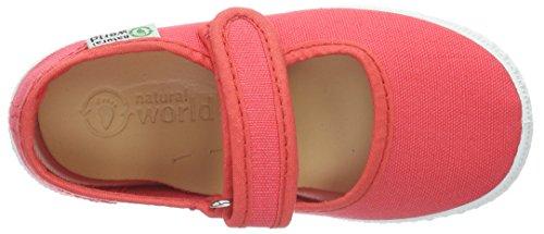Natural World Mercedes Anilla Velcro Liso, Mary Jane  fille, Rose (CORAL 06), 38 EU enfant