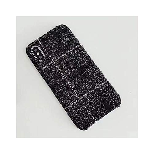P Fabrics Phone Case for iPhone X Xs Max Xr 8 7 6S 6 Plus Warm Cashmere Fashion Soft Color Back Cover Cases Capa Fundas,Black,for iPhone X