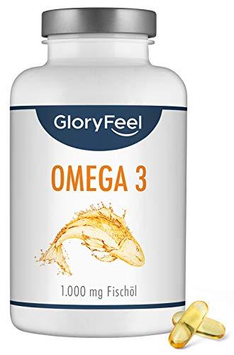 Omega 3 Fischöl Kapseln 1000mg - 400 Kapseln - VERGLEICHSSIEGER 2020* - Essentielle Omega 3 Fettsäuren EPA und DHA aus nachhaltigem Fischfang - Laborgeprüft ohne Zusätze hergestellt in Deutschland