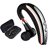 Bluetooth Headset, Wireless V4.1 Business in Ear Earpiece with Mic Sweatproof Headset Handsfree for Driving,Running, Workout, Gym and Smartphone