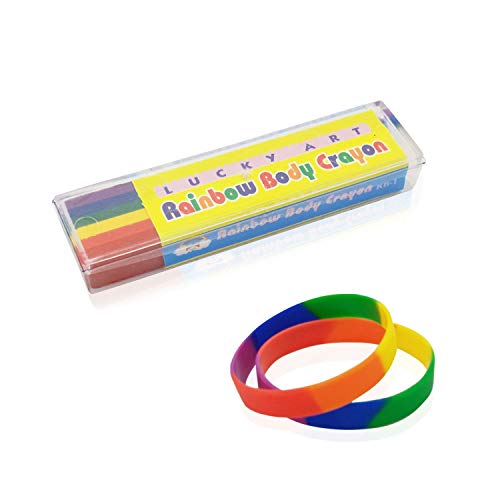 Face Paint Rainbow Gay Pride Accessories with 2