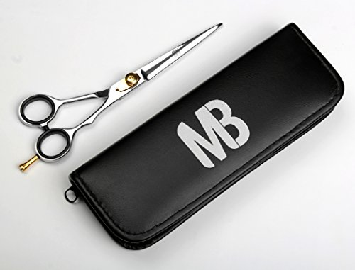 - Professional Barber Scissor 6.5 Inch Razor Edge Blade Rust Free Stainless Steel Chrome Plated Shears For Smooth Cutting - Easy Grip Hairdressing Cosmetic Scissors