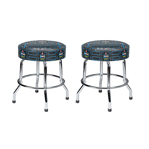 Stools Table Cocktail (Namco Set of 2 19 inch Pac-Man Barstools)