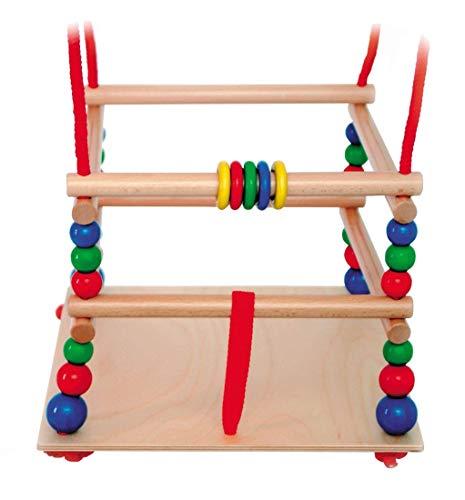Hess houten speelgoed 31101 – rasterschommel van hout, ca. 30 cm