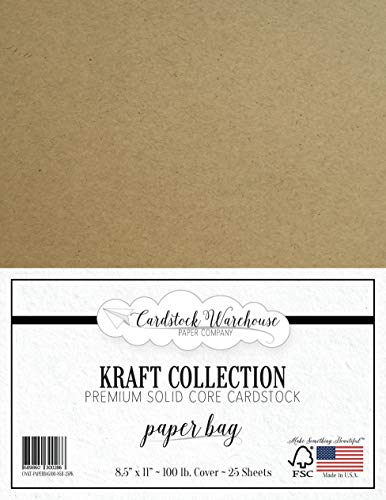 Paper Bag Kraft Recycled Cardstock - 8.5