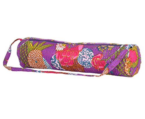 Stylish Yoga Mat Bag for Women by Abundant Life Yoga -Quality Guaranteed! (Purple)