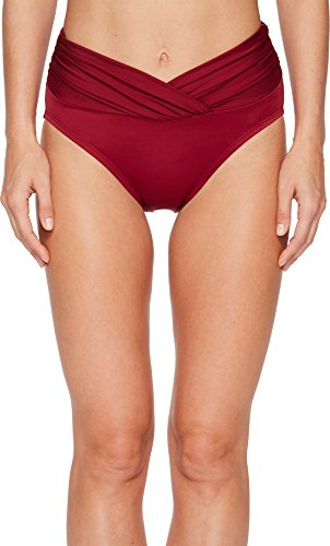 Miraclesuit V-Front Bikini Bottom, 10, Pompei Red (Tankini Piece Two Miraclesuit)