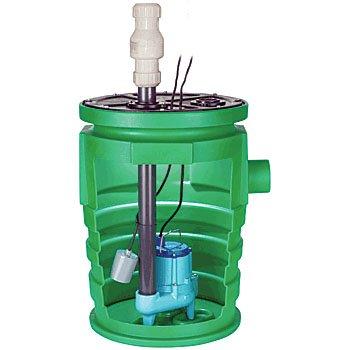 "Little Giant 9S-SMPX-LG Sewage Pump System - 9S 4/10 HP Sewage pump, Bolt-On Flanges, 20x30"""