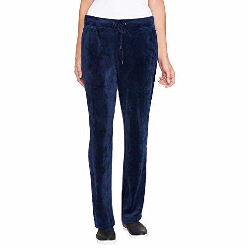 Gloria Vanderbilt Ladies' Velour Lounge Pant for Women ~ X-Small - Plus Sizes (Small, Blue) ()