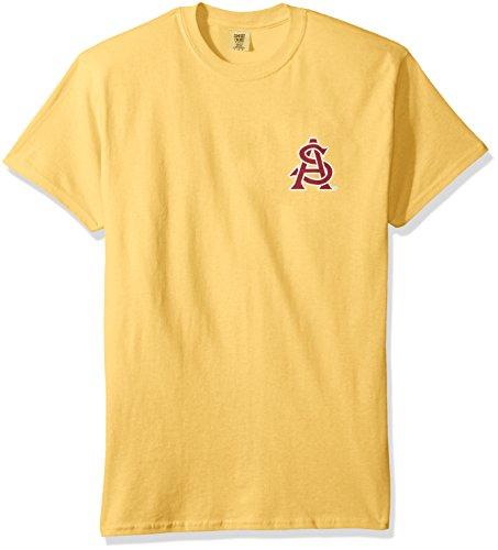 - NCAA Arizona State Sun Devils State Baseball Laces Short Sleeve Comfort Color T-Shirt, Mustard,Mustard