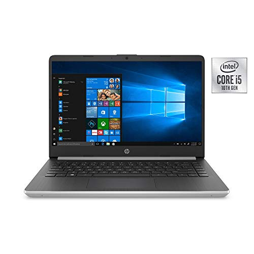 Newest HP 14″ HD Premium Business Laptop PC | 10th Gen Intel Quad-Core i5-1035G1 up to 3.6GHz | 8GB RAM | 256GB SSD | WiFi | HDMI | Card Reader | Bluetooth | Windows 10 | Silver